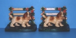 Click to view Cocker Spaniel by Fence Bookends photos