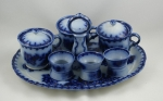 Click to view Egg Coddler Serving Dish Flow Blue China photos
