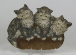 Click to view Three Kitten B&H Tray Desk Accessory photos