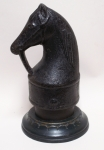 Click to view Horse Head Finial Hitching Post photos