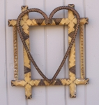 Click to view Tramp Art Frame w/ Applied Heart photos