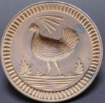 Click to view Chicken Hen Woodenware Butter Print photos
